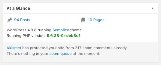 Display PHP Version Plugin