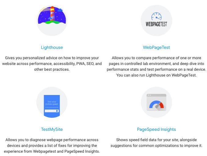 Most used Google Performance Tools