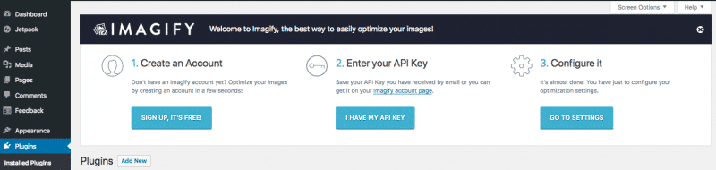 Imagify plugin - How To Create An Account