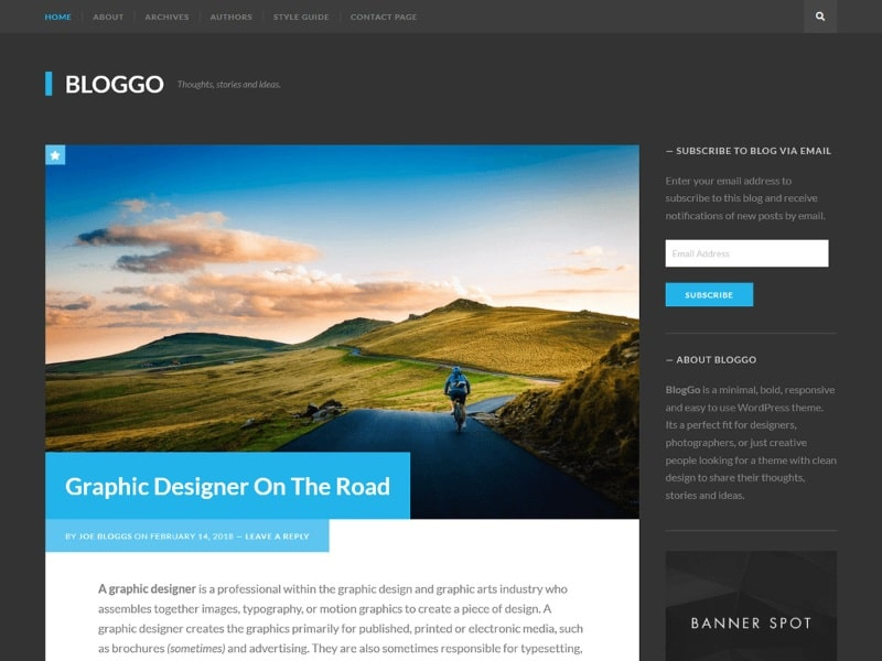 Which are the fastest free WordPress Themes - Bloggo