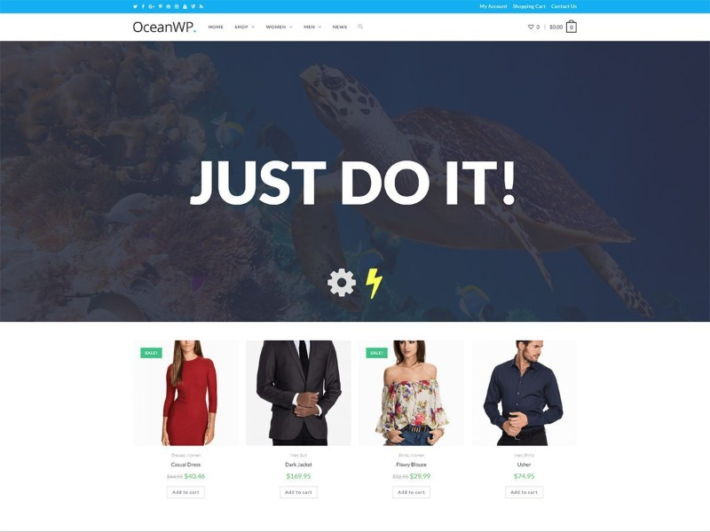 Which are the fastest free WordPress Themes - OceanWP