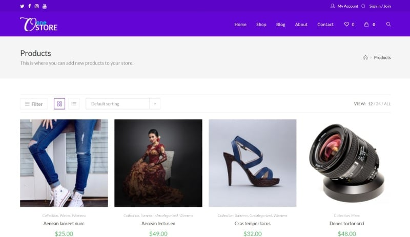 OceanWP is one of the fastest WooCommerce themes