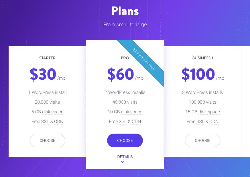 kinsta hosting plans