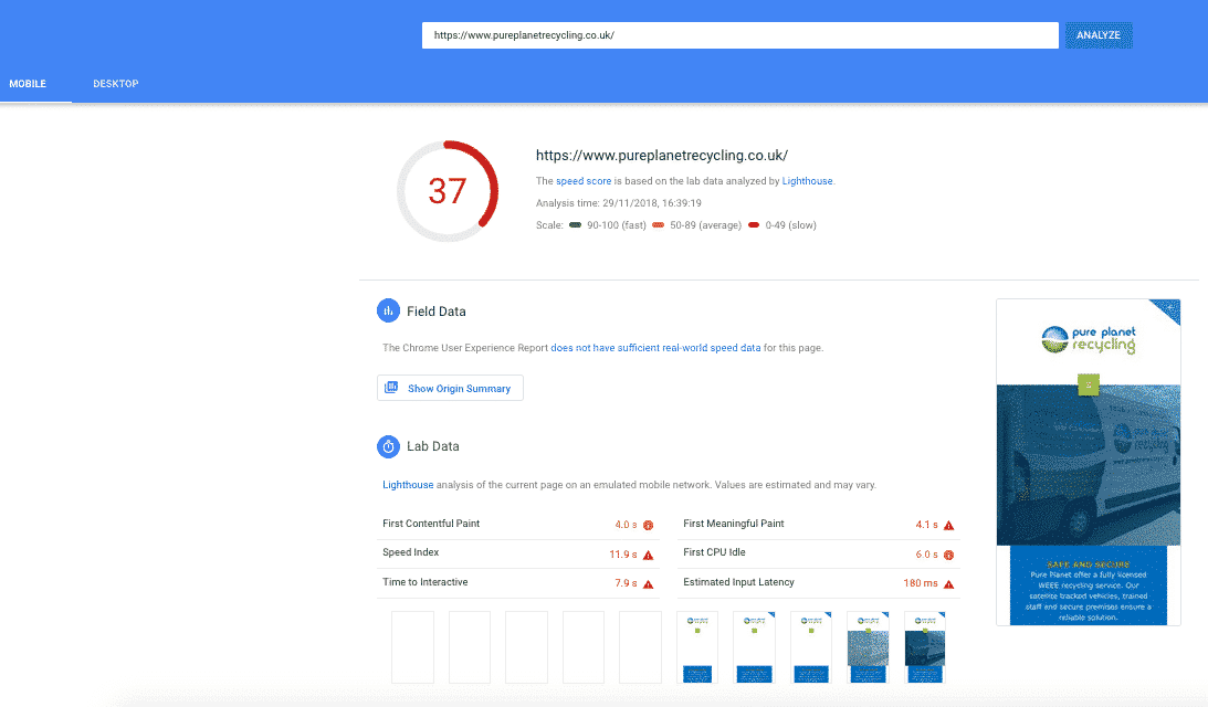 Why you Shouldn't Care About Google PageSpeed Insights