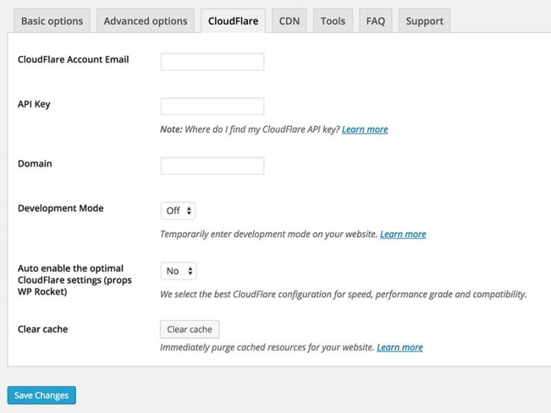 WP Rocket CloudFlare Integration