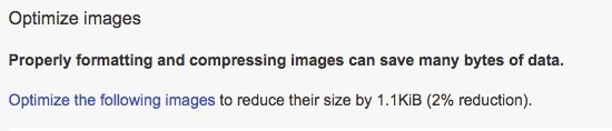 Google PageSpeed Insights Optimize Images